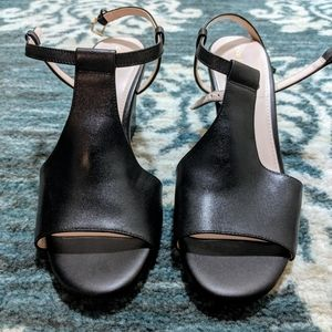 Cole Haan Black Leather Wedges -size 7 1/2